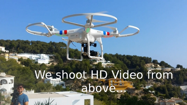 DJI Phantom Drone with GoPro Video Camera